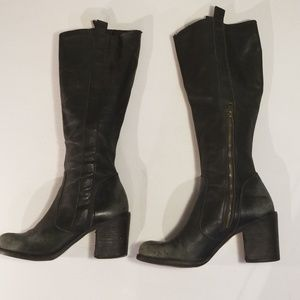 "Steven By Steve Madden Shoes - Steven/Steve Madden knee hi leather Boots 3"" heels"